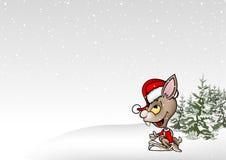 La Navidad de las historietas stock de ilustración