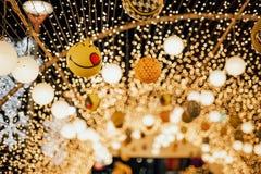 La Navidad de las luces LED en la noche fotografía de archivo