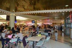 La Navidad de Los Ángeles Foodcourt de la plaza de Koreatown Imagen de archivo