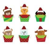 La Navidad de los animales ilustración del vector
