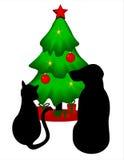 La Navidad de los animales domésticos imagen de archivo