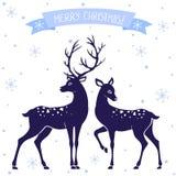 La Navidad de los ciervos Imagen de archivo libre de regalías