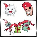 La Navidad de los monstruos Stock de ilustración