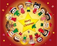 La Navidad de los niños Fotografía de archivo