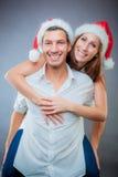 La Navidad de los pares Imagen de archivo libre de regalías