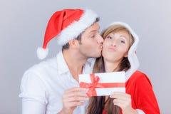 La Navidad de los pares Fotos de archivo