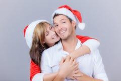 La Navidad de los pares Imágenes de archivo libres de regalías