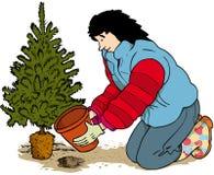 La Navidad de los posts Imagen de archivo libre de regalías