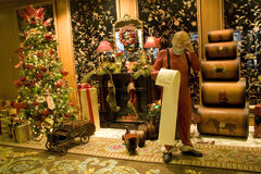 La Navidad de lujo de los interiores fotos de archivo