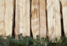 La Navidad de madera del fondo Imagenes de archivo