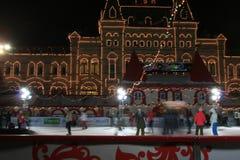 La Navidad de Moscú Kremlin scating Imagen de archivo