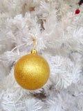 La Navidad de oro Imagenes de archivo