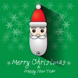 La Navidad de Papá Noel en verde Foto de archivo