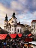 La Navidad de Praga, Año Nuevo Fotografía de archivo