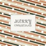 La Navidad de la raya retra colorida alinea la tarjeta de modelo stock de ilustración