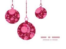La Navidad de rubíes del vector adorna siluetas Foto de archivo libre de regalías
