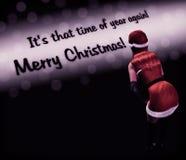La Navidad de Santa Girl Lady Background Merry Fotos de archivo libres de regalías