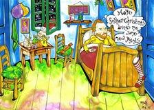La Navidad de Van Gogh stock de ilustración