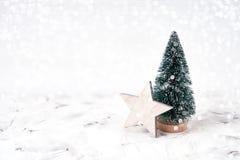 La Navidad Decoración de la Navidad, textura del bokeh Copie el espacio Fotos de archivo libres de regalías