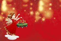 La Navidad del ángel Imagen de archivo libre de regalías