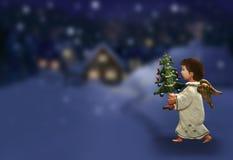 La Navidad del ángel Imagen de archivo