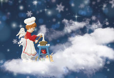 La Navidad del ángel Imagenes de archivo