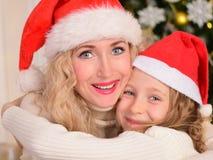 La Navidad del Año Nuevo de la madre y de la hija Imágenes de archivo libres de regalías