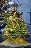 La Navidad del Año Nuevo de la nieve del árbol juega el invierno de Moscú Imagen de archivo libre de regalías