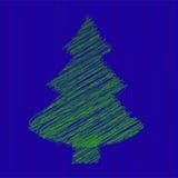 La Navidad del abeto del vector y Año Nuevo Foto de archivo libre de regalías