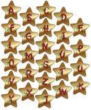 La Navidad del alfabeto Imagen de archivo libre de regalías