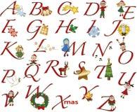 La Navidad del alfabeto Imágenes de archivo libres de regalías