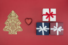 La Navidad del amor disfruta de San Esteban de la venta y de las compras Foto de archivo