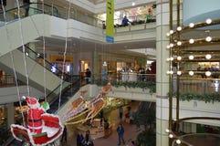 La Navidad del atrio de Los Ángeles de la plaza de Koreatown Fotos de archivo libres de regalías