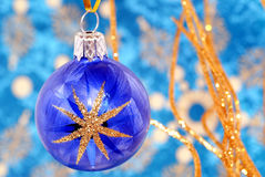 La Navidad del azul de la estrella. Imagenes de archivo