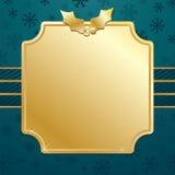 La Navidad del azul y del oro Fotografía de archivo libre de regalías