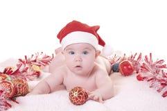 La Navidad del bebé Foto de archivo libre de regalías