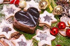 La Navidad del chocolate y de las galletas fotografía de archivo