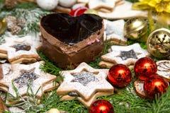 La Navidad del chocolate y de las galletas fotos de archivo libres de regalías