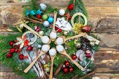 La Navidad del chocolate y de las galletas imagen de archivo