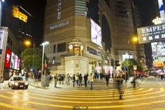 La Navidad del cuadrado del tiempo de Hong-Kong Fotografía de archivo libre de regalías