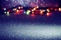 La Navidad del día de fiesta, Año Nuevo empañó el fondo ligero Imagenes de archivo