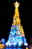 La Navidad del fondo del bokeh de la falta de definición Imágenes de archivo libres de regalías