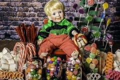 La Navidad del gasto en tierra del caramelo Imagen de archivo