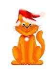 La Navidad del gato Fotos de archivo