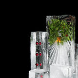 La Navidad del hielo Foto de archivo libre de regalías