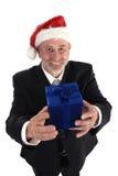 La Navidad del hombre de negocios Imagenes de archivo