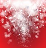 La Navidad del invierno y cielo del Año Nuevo Ilustración del Vector