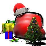 La Navidad del monedero Foto de archivo libre de regalías