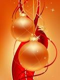 La Navidad del oro Imágenes de archivo libres de regalías