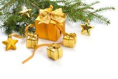 La Navidad del oro Foto de archivo